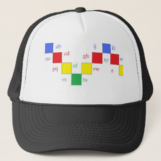 letters or abcd..........z trucker hat