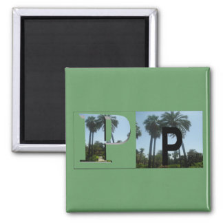 Letters - P - Palm Trees Magnet