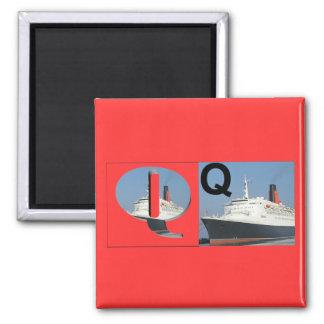 Letters - Q - QE2 2 Inch Square Magnet