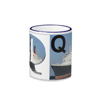 Letters - Q - QE2 (Queen Elizabeth 2) Ringer Mug