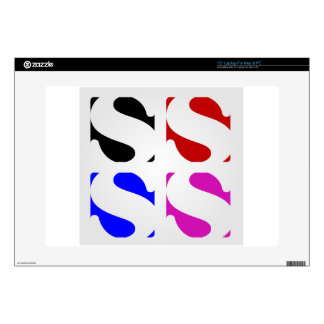 Letters S Laptop Decal