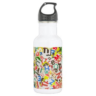 Letters Stainless Steel Water Bottle