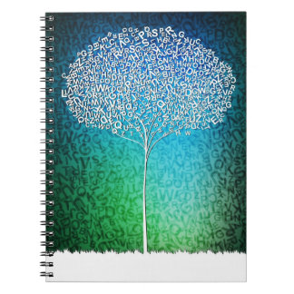 letters tree spiral note books