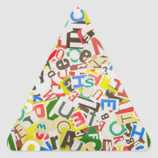 Letters Triangle Sticker