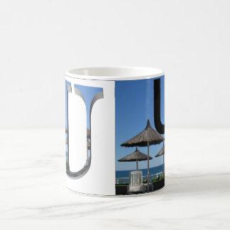 Letters - U - Umbrellas Magic Mug