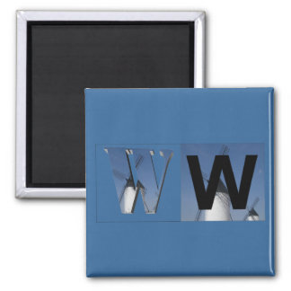 Letters - W - Windmill Magnet