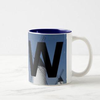 Letters - W - Windmills Two-Tone Coffee Mug
