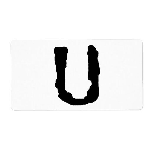 LetterU Etiqueta De Envío
