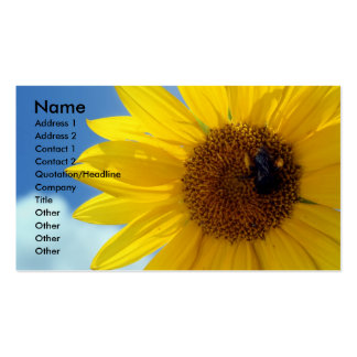 letthesunshine, Name, Address 1, Address 2, Con... Business Card Template