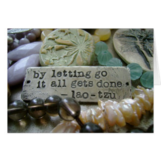 Letting Go Bead Notecard Stationery Note Card