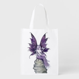 Letting Go Butterfly and Fairy Fantasy Art Market Totes