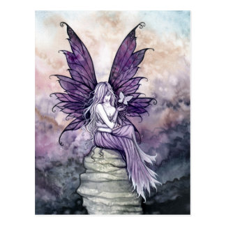 Letting Go Fairy and Butterfly Postcard