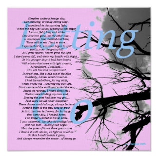 Letting Go Inspirational Poem By Melissa Park Poster
