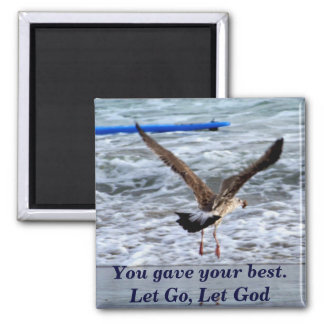 Letting Go_Magnet 2 Inch Square Magnet