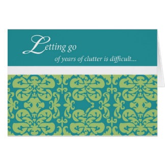 Letting Go of Clutter Stationery Note Card