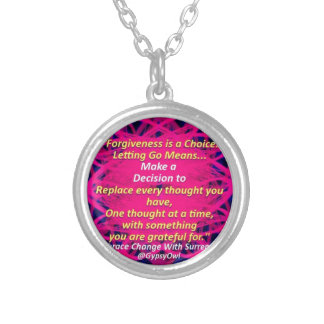 Letting Go Silver Plated Necklace