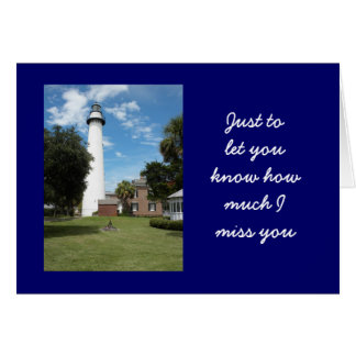 Letting You know How Much I Miss You Card