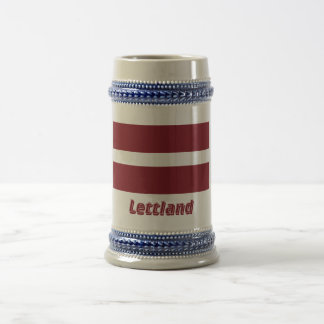 Lettland Flagge mit Namen Coffee Mugs
