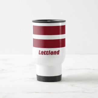Lettland Flagge mit Namen Coffee Mug
