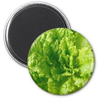 Lettuce 2 Inch Round Magnet