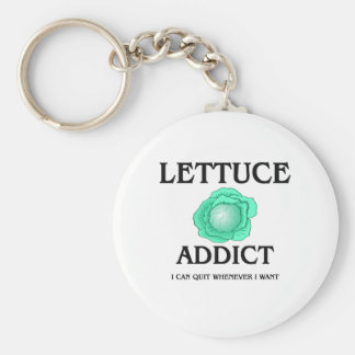 Lettuce Addict Basic Round Button Keychain