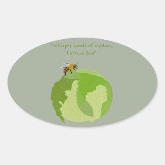 Lettuce Bee Oval Sticker