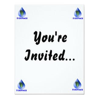 Lettuce blue text blue drop hydroponics design card