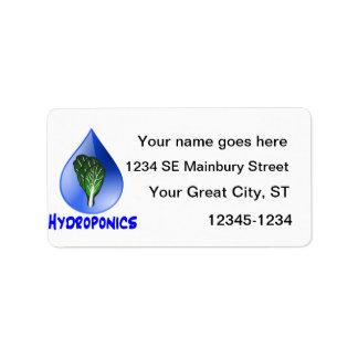 Lettuce blue text blue drop hydroponics design label