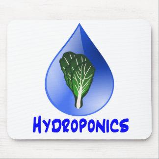 Lettuce blue text blue drop hydroponics design mouse pad