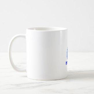 Lettuce blue text blue drop hydroponics design mug