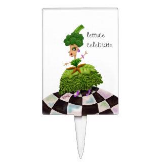 """""""Lettuce Celebrate"""" Lettuce Lady Cake Topper"""