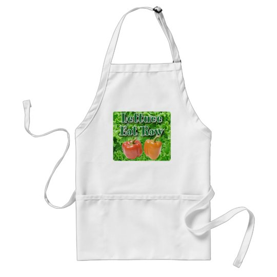 Lettuce Eat Raw Adult Apron