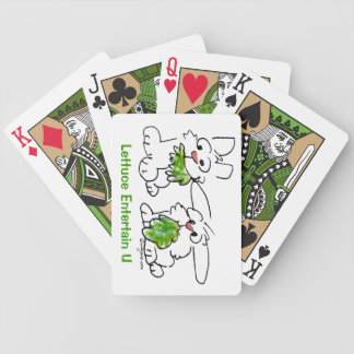 Lettuce Entertain U Cartoon Bunny Rabbits Bicycle Playing Cards