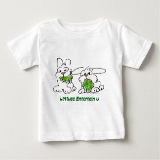 Lettuce Entertain U Cartoon Rabbits Baby T-Shirt