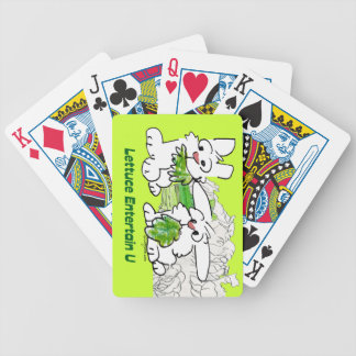 Lettuce Entertain U Cartoon Rabbits Bicycle Playing Cards