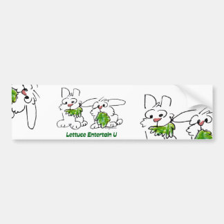 Lettuce Entertain U Cartoon Rabbits Bumper Sticker