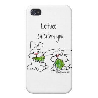 Lettuce Entertain U Cartoon Rabbits Covers For iPhone 4