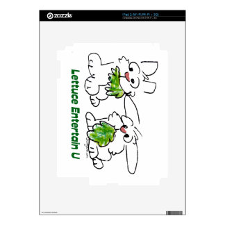 Lettuce Entertain U Cartoon Rabbits iPad 2 Skins