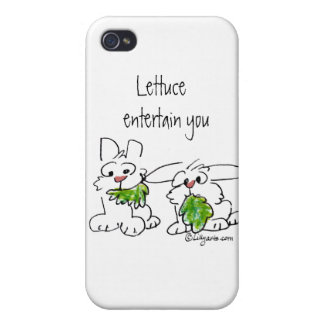 Lettuce Entertain U Cartoon Rabbits iPhone 4 Cover