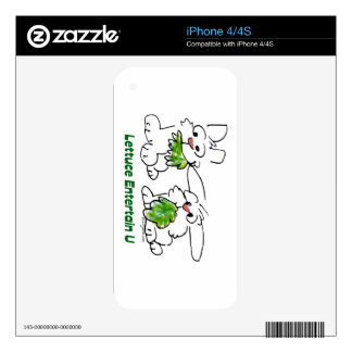 Lettuce Entertain U Cartoon Rabbits iPhone 4 Decal