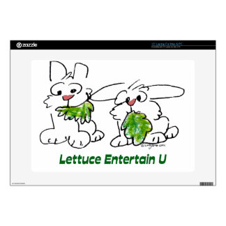Lettuce Entertain U Cartoon Rabbits Laptop Skins