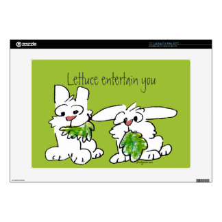 "Lettuce Entertain You Cartoon Rabbits 15"" Laptop Skin"