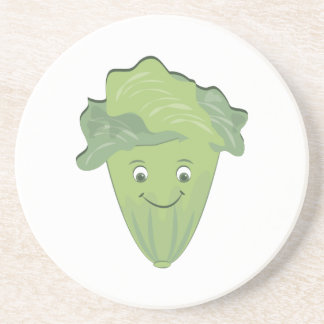 Lettuce Face Beverage Coaster