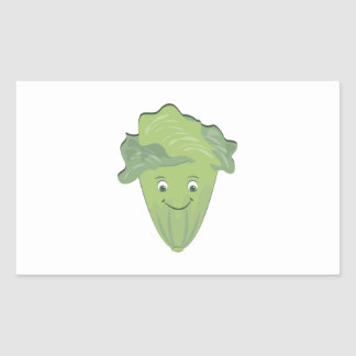Lettuce Face Rectangle Stickers