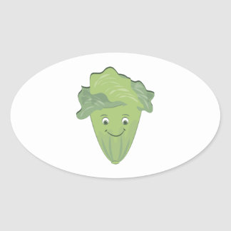 Lettuce Face Oval Stickers