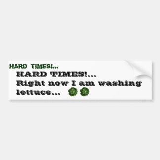 lettuce head dark, lettuce head dark, HARD TIME... Bumper Sticker