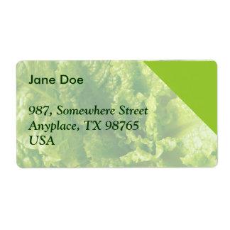Lettuce Label