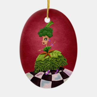 Lettuce Lady Ceramic Ornament
