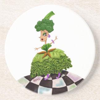 Lettuce Lady Drink Coaster