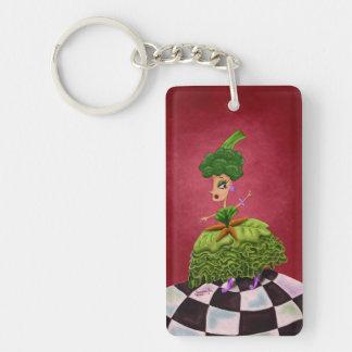 Lettuce Lady Single-Sided Rectangular Acrylic Keychain